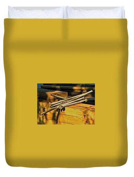 Threads And Grains Duvet Cover