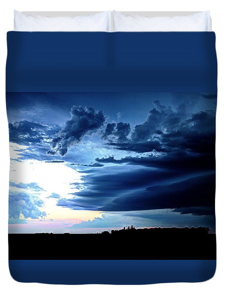 Threatening Storm Clouds Duvet Cover