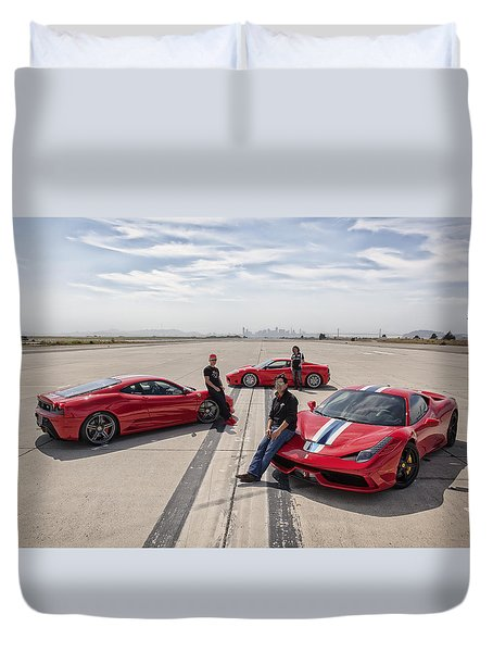Duvet Cover featuring the photograph Three Amigos by ItzKirb Photography