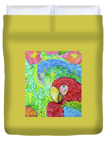 Duvet Cover featuring the painting Three Amigos by Susan D Moody