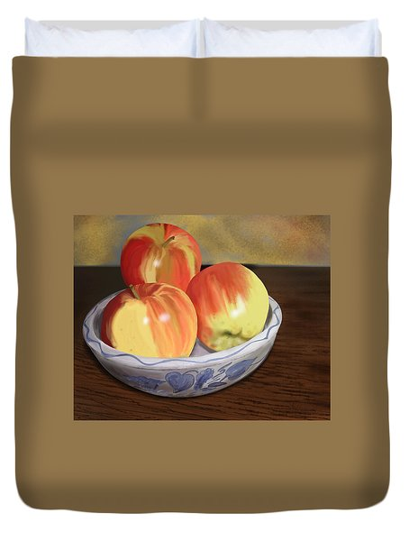 Three Apples Duvet Cover