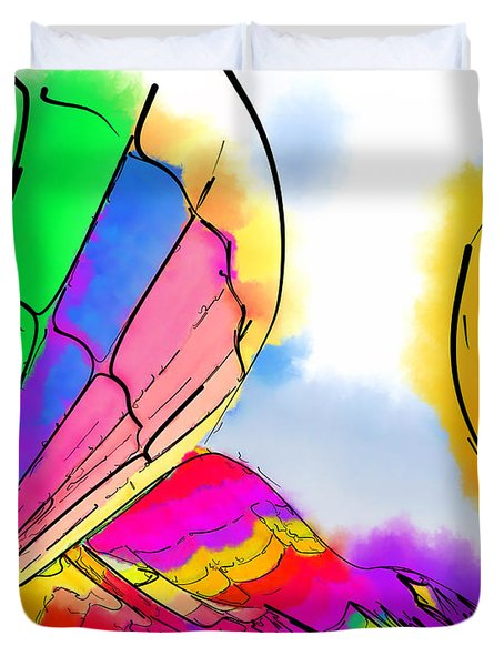 Three Balloons Duvet Cover