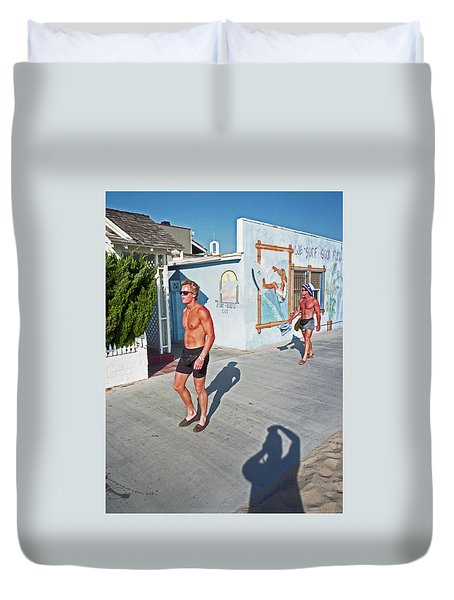 Three Beefcakes Duvet Cover