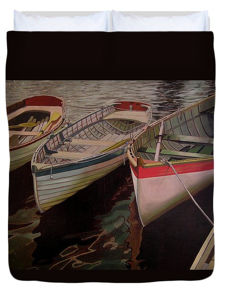 Three Boats Duvet Cover