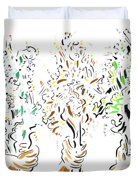 Three Bouquets Duvet Cover