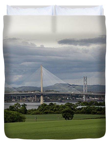 Three Bridges Over The Forth Duvet Cover
