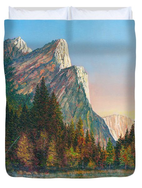 Three Brothers Morning Duvet Cover