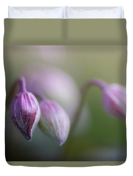 Three Buds Duvet Cover by Peter Scott