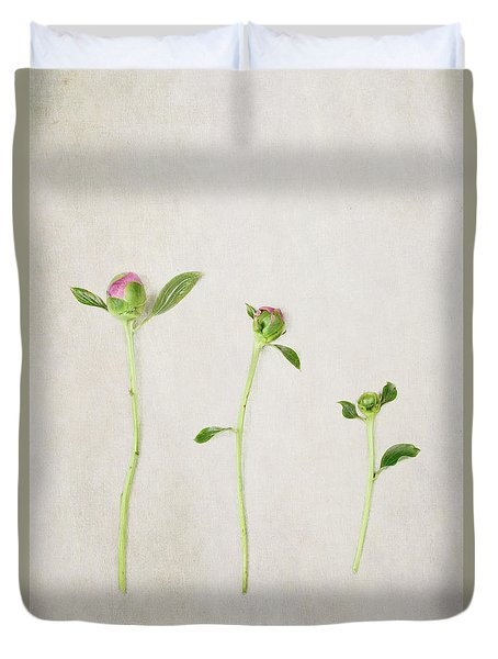 Three Buds Duvet Cover