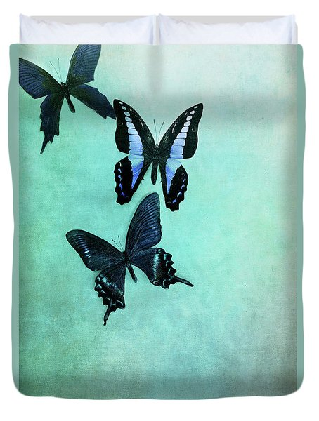 Three Butterflies Duvet Cover