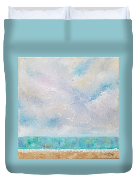 Three By The Sea Duvet Cover