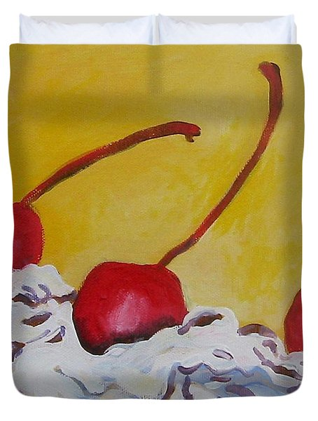 Three Cherries Duvet Cover