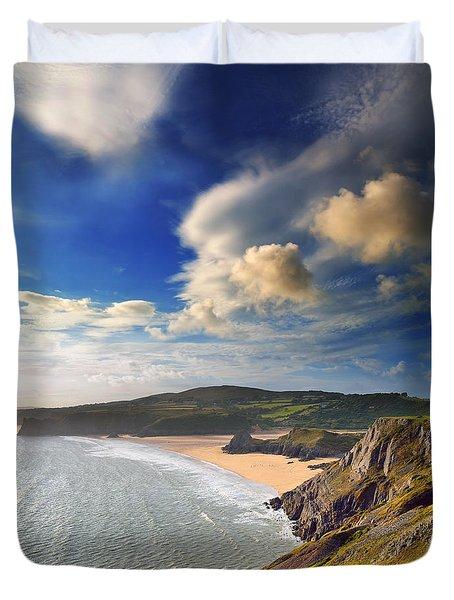 Three Cliffs Bay 1 Duvet Cover