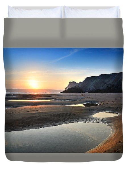 Three Cliffs Bay 2 Duvet Cover