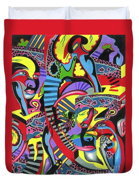 Three Disguises Of An Abstract Thought Duvet Cover