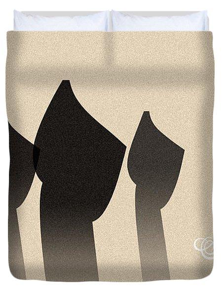 Three Figures Duvet Cover