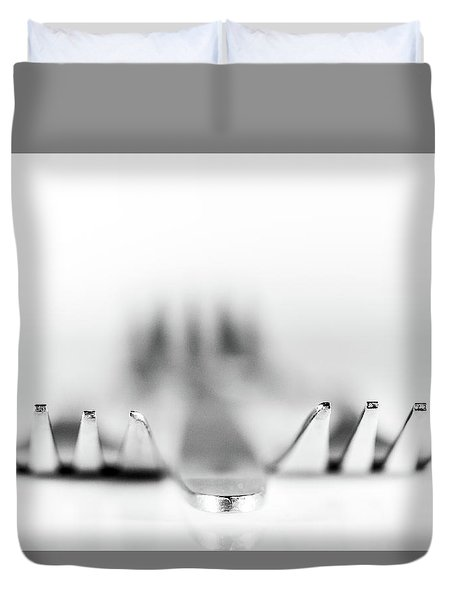 Duvet Cover featuring the photograph Three Forks by Gary Gillette