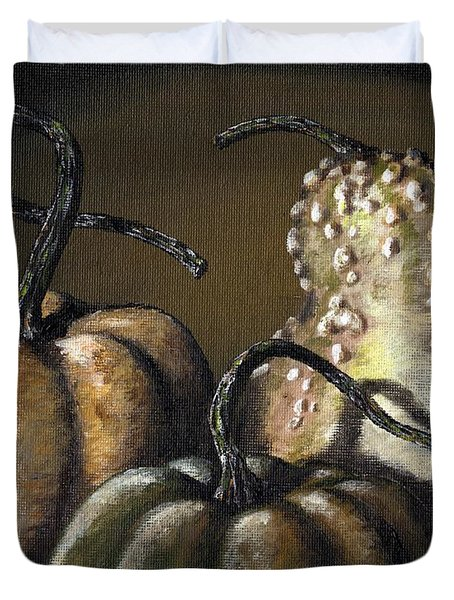 Three Gourds Duvet Cover by Adam Zebediah Joseph