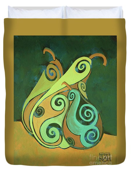 Three Groovy Little Pears Duvet Cover