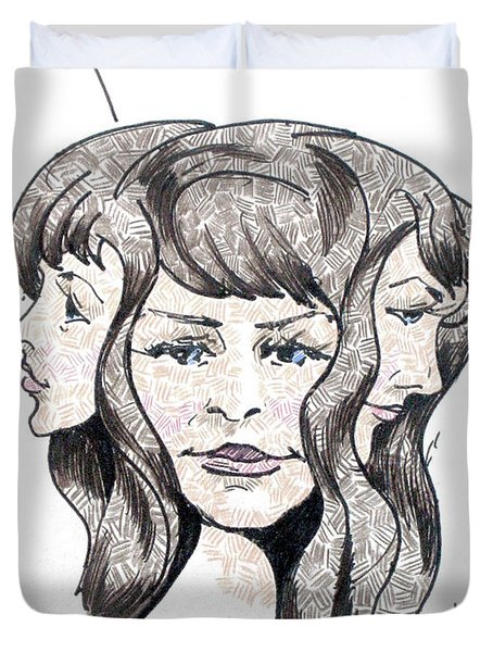 Three Heads Are Better Than One Duvet Cover