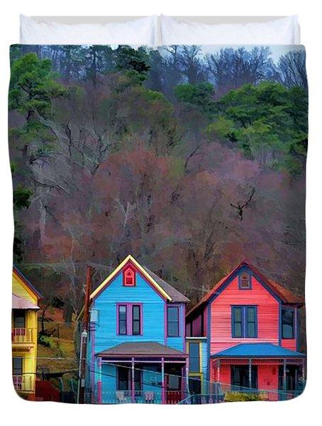 Three Houses Hot Springs Ar Duvet Cover