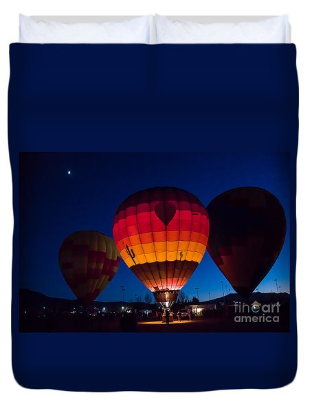Three In The Evening Duvet Cover