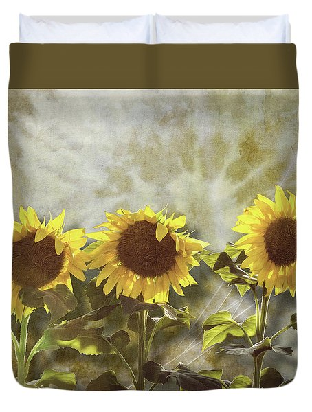 Three In The Sun Duvet Cover