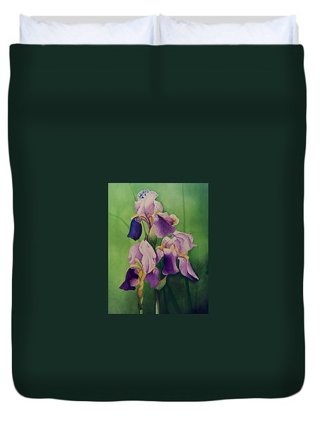 Three Iris Duvet Cover