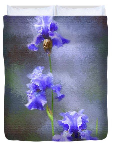 Three Iris Duvet Cover