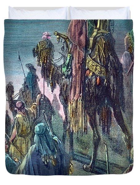 Three Kings  Christmas Card Duvet Cover