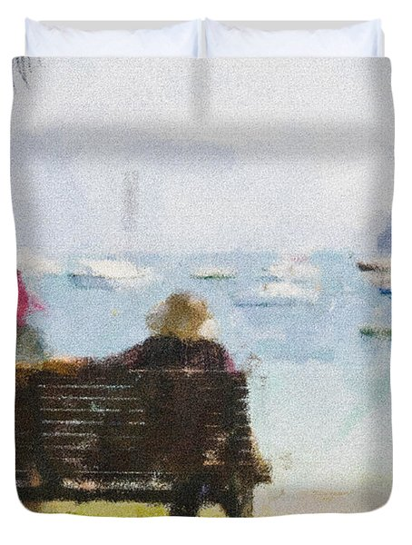 Three Ladies Duvet Cover by Avalon Fine Art Photography