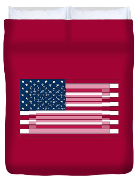 Three Layered Flag Duvet Cover by David Bridburg