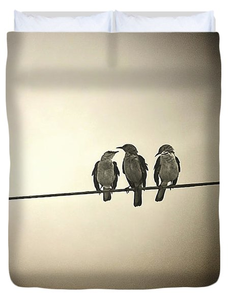 Three Little Birds Duvet Cover