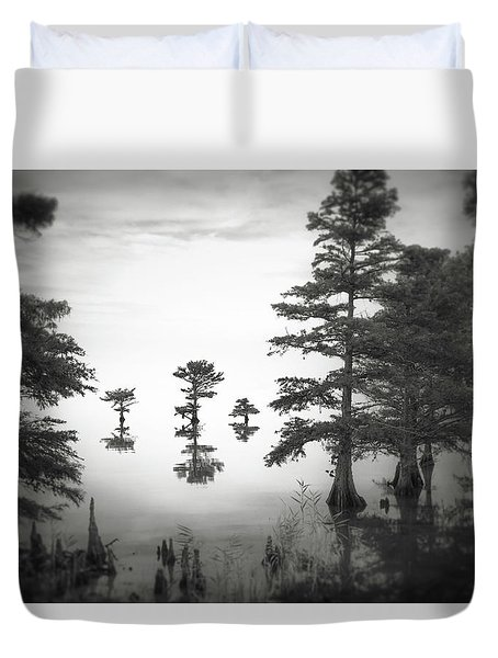 Duvet Cover featuring the photograph Three Little Brothers by Eduard Moldoveanu