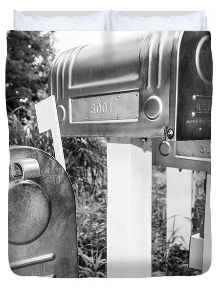 Three Mailboxes Duvet Cover