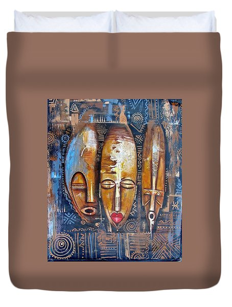Three Masks Duvet Cover