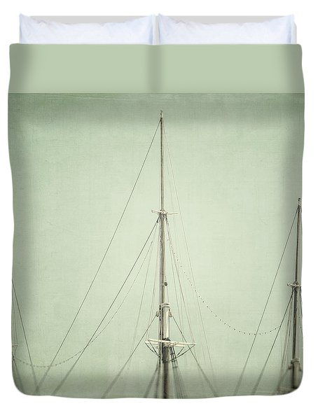 Three Masts Duvet Cover by Lisa Russo