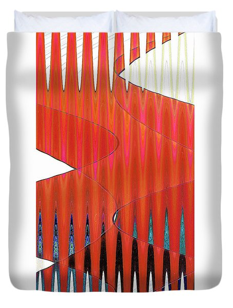Three Merge Abstract Duvet Cover