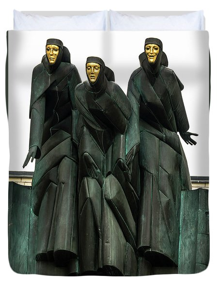 Three Muses Duvet Cover