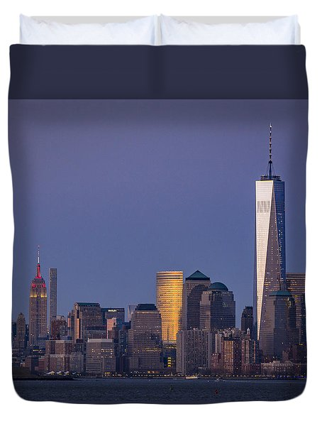 Three New York Symbols Duvet Cover