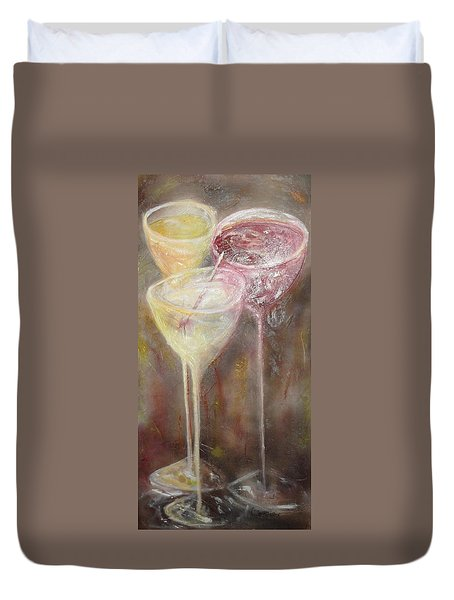 Three Night Out Duvet Cover