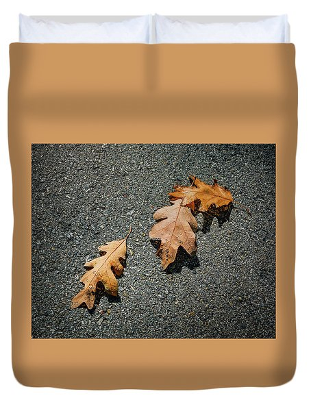 Three Oak Leaves Duvet Cover
