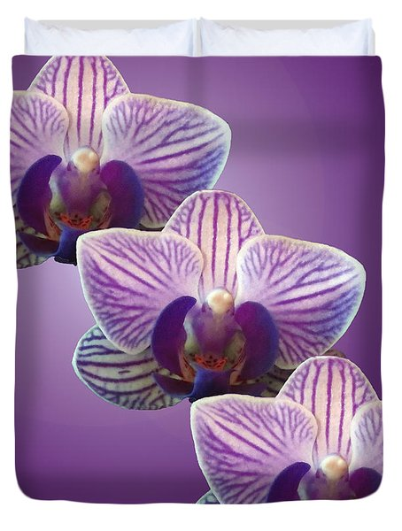 Three Orchids Duvet Cover