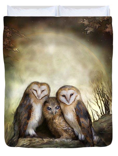 Three Owl Moon Duvet Cover
