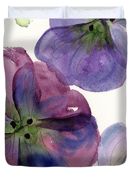 Three Pansies Duvet Cover