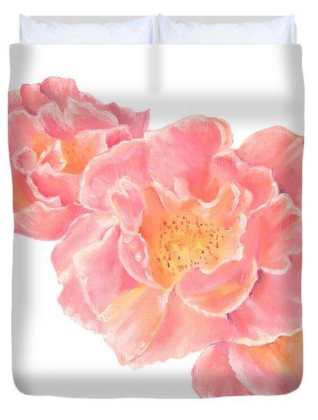 Three Pink Roses Duvet Cover