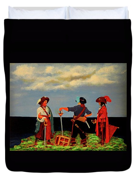 Three Pirates Duvet Cover by Robert Marquiss