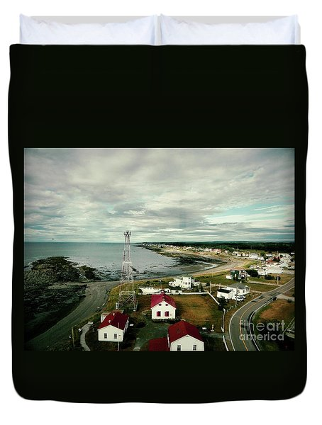 Three Red Roofs Duvet Cover by Aimelle