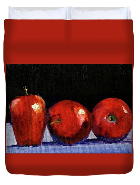 Three Reds Duvet Cover