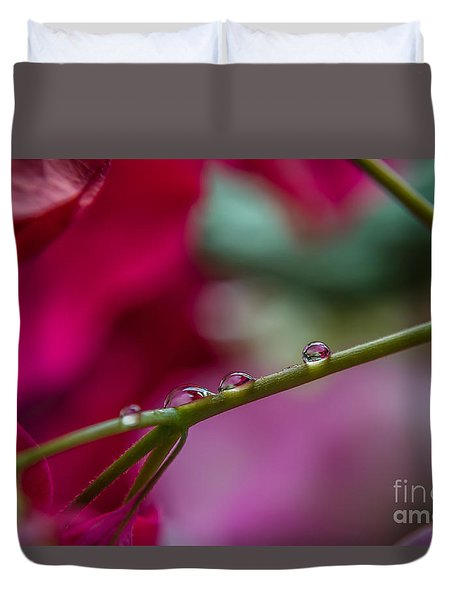 Three Reflecting Drops Duvet Cover